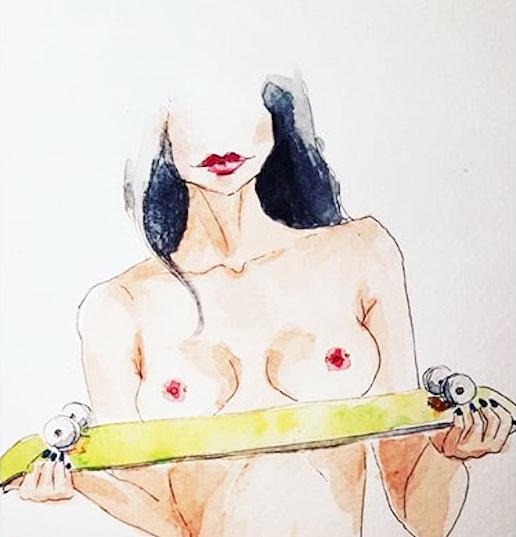 Les courbes féminines et aquatiques de Clémentine - Vernissage 1 - MontpelYeah Magazine