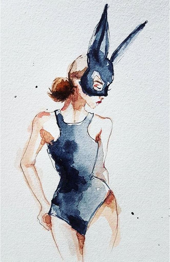Les courbes féminines et aquatiques de Clémentine - Vernissage 1