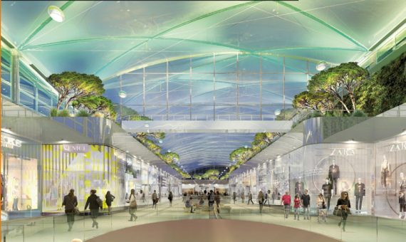 Le nouveau plafond du Polygone en pleine transparence 19