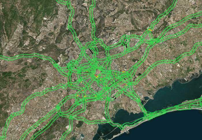 trafic autoroute montpellier