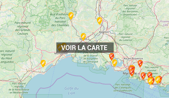 Carte des stations essence, pénurie ou disponibilité des carburants 2