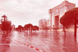 tempête à Montpellier aujourd'hui 3