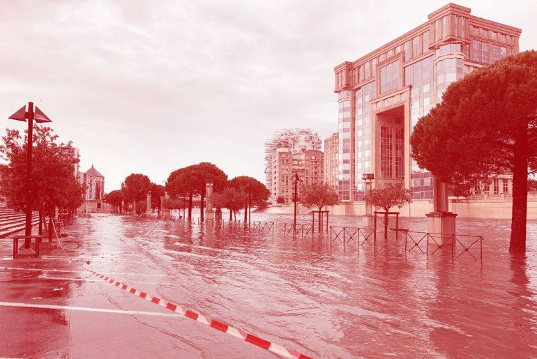 tempête à Montpellier aujourd'hui 1