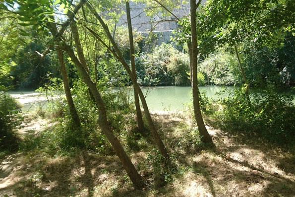 Baignade en riviere Sommiere, Lecques plage du rocher