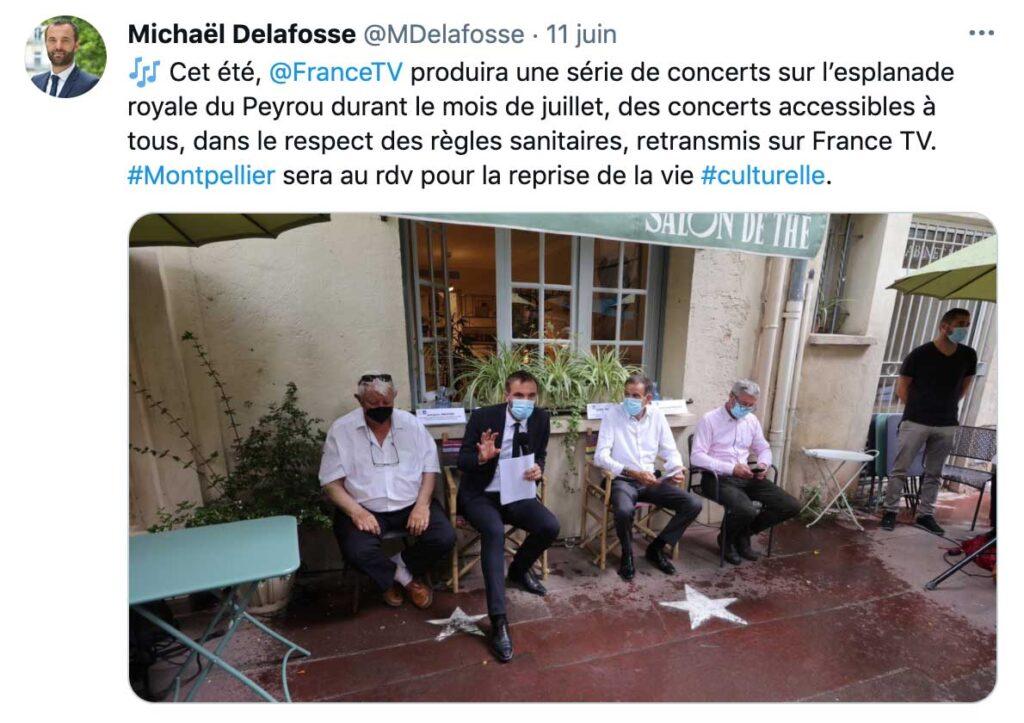 Le Maire annonce le déroulement du concert à Montpellier